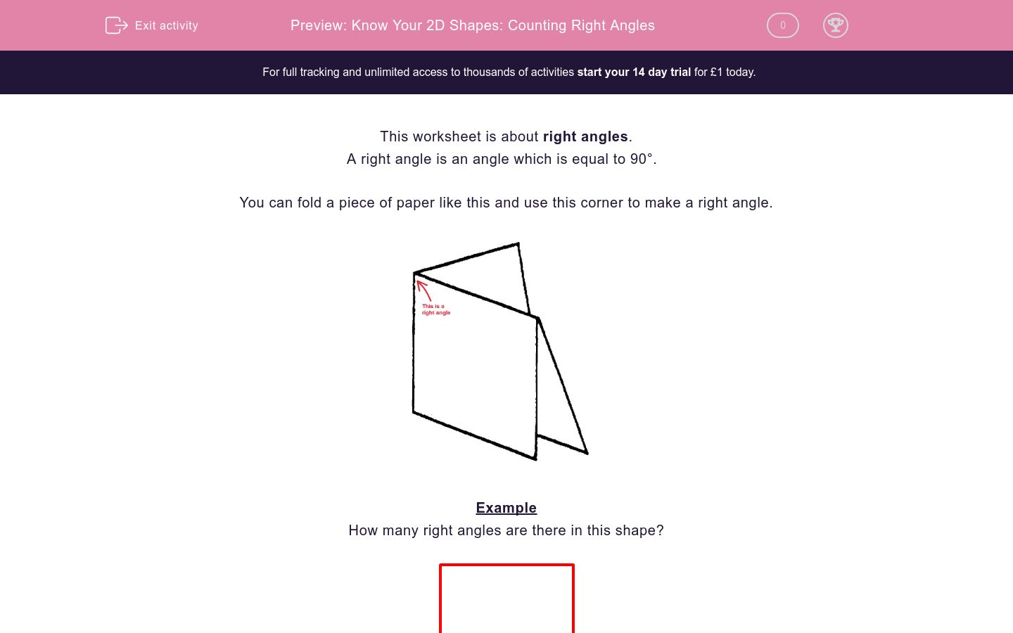 Know Your 2d Shapes Counting Right Angles Worksheet