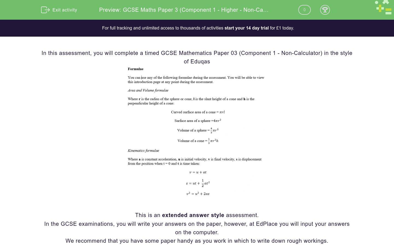 Gcse Maths Paper 3 Component 1