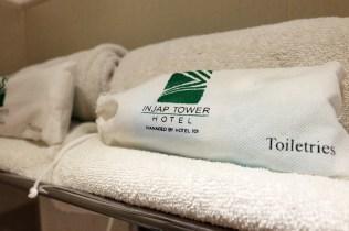 toiletries at Injap Hotel