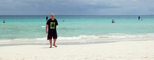Me enjoying the beautiful beach front of Henann Prime Beach Resort