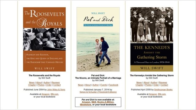 Books by US Presidential Historian and Biographer Will Swift