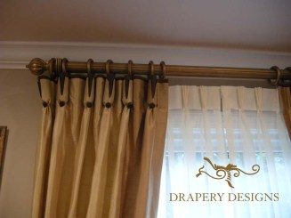 Goblet pleated drapes with contrast underlay Alterations 12