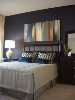 Custom bedding with headboard 04