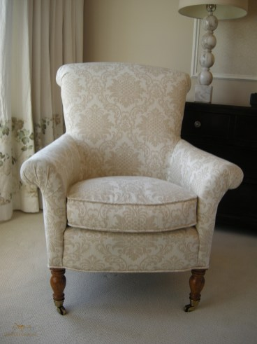 Custom upholstered armchair 07