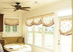 Relaxed roman shade for Kitchen windows
