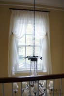 deco. sheer for a high window with Euro hems
