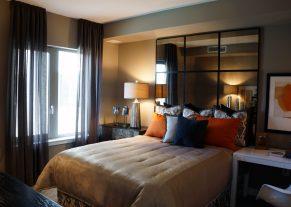 lined sheer panels in black color for bedroom