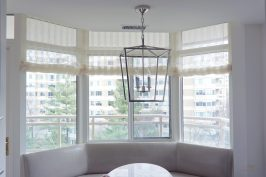 Contemporary sheer shades for Kitchen bay window