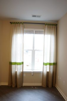 Tap Top sheer panels with color blocks