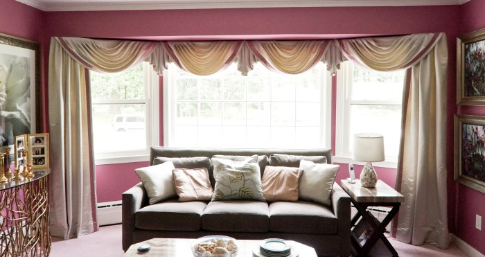 swags for a bay window