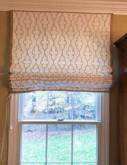 Flat Roman Shades with Contrast Banding