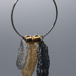 boucles d'oreilles anneaux plumes e dressing des copines