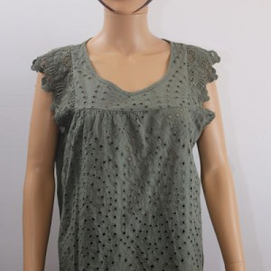 Blouse broderie anglaise e dressing des copines