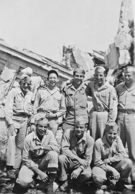 The gang at Shuri Castle in Okinawa, Japan; photographer unknown