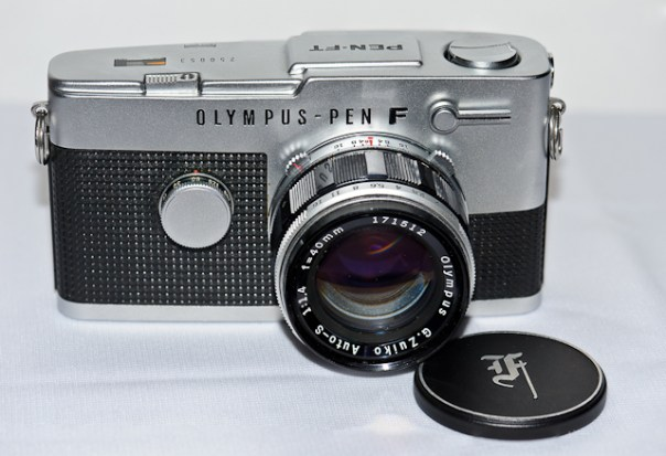 Olympus Pen FT camera with Olympus G.Zuiko 40mm f1:1.4 lens