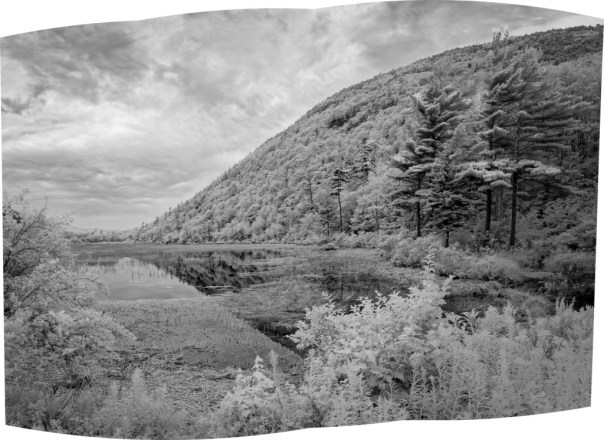 "The Tarn - This is a three frame panorama from Acadia National Park that I'd never processed. I used it to test the new ""Boundary Warp"" feature"