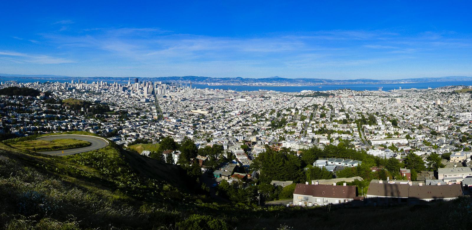 San Francisco panorama from Twin Peaks
