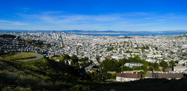 San Francisco panorama from Twin Peaks
