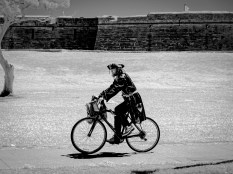 Infrared bicycle pirate: St. Augustine Florida