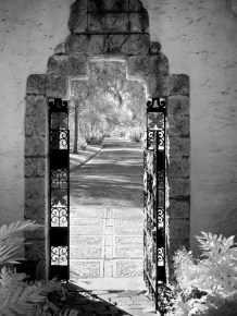 Way out: A gate at the Maitland Art Center