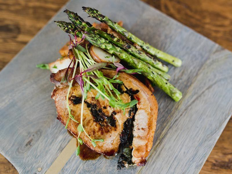 Dining at Edson Hill - Pork with Asparagus