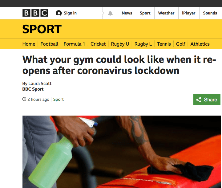 Gyms opening in July? Socially Distanced Swimming?