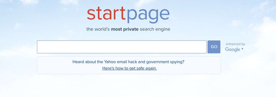 Start Page Anonymous Google search security privacy cybersecurity edtechchris