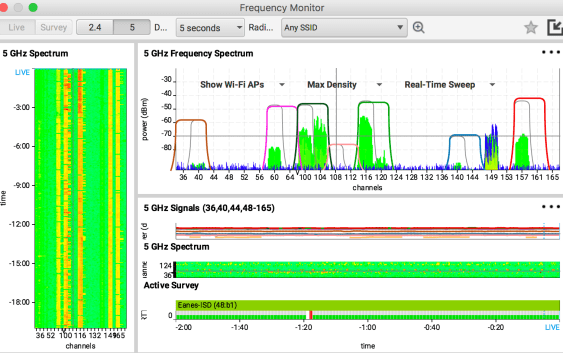 Wi-Fi Spectrum Analysis with Ekahau Sidekick macOS iOS tvOS