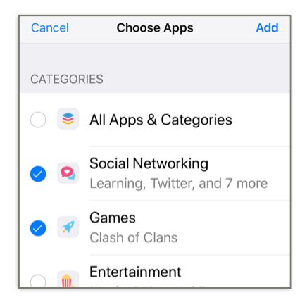 Screen Time lets you set app limits based on categories, but you can also set limits on individual apps.