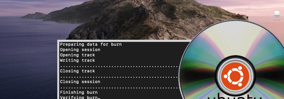 Burn ISO to DVD in macOS Catalina to create a Ubuntu Installer