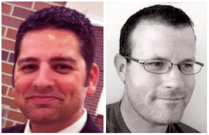 Brent Wise L and Chris Deis R of ClassEapps