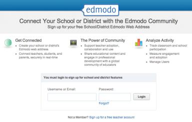 Edmodo district page