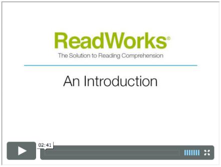ReadWorks intro video