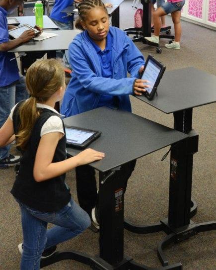 CREDIT Ergotron LearnFit desk