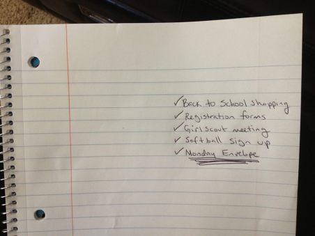 CREDIT Monday Envelope