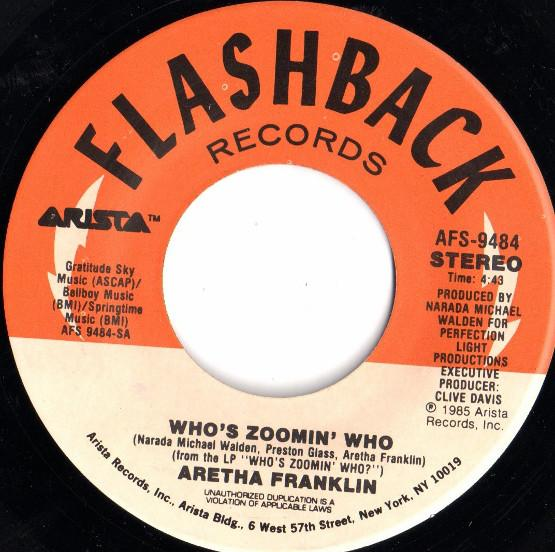 Image of 45 record of song Who's Zooming Who by Aretha Franklin