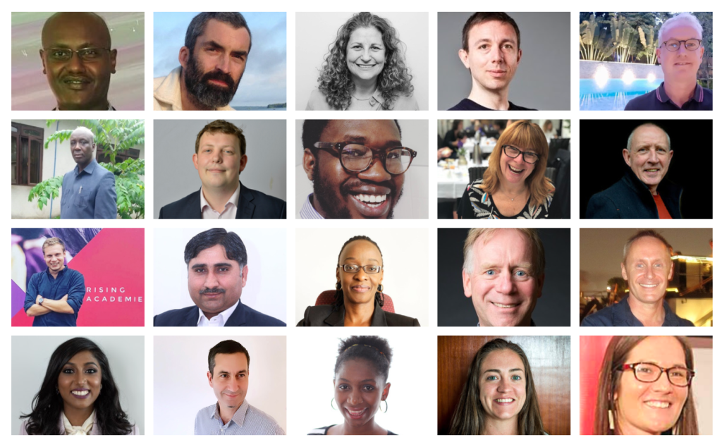 A photo collage of the EdTech Hub Specialist Network members