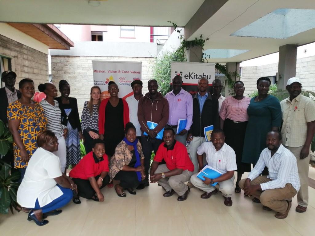 Teachers taking a group photo in Kisumu