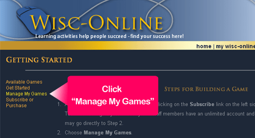 """Manage My Games"""