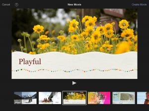 iMovie has great themes