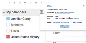 GHO Link in Calendars