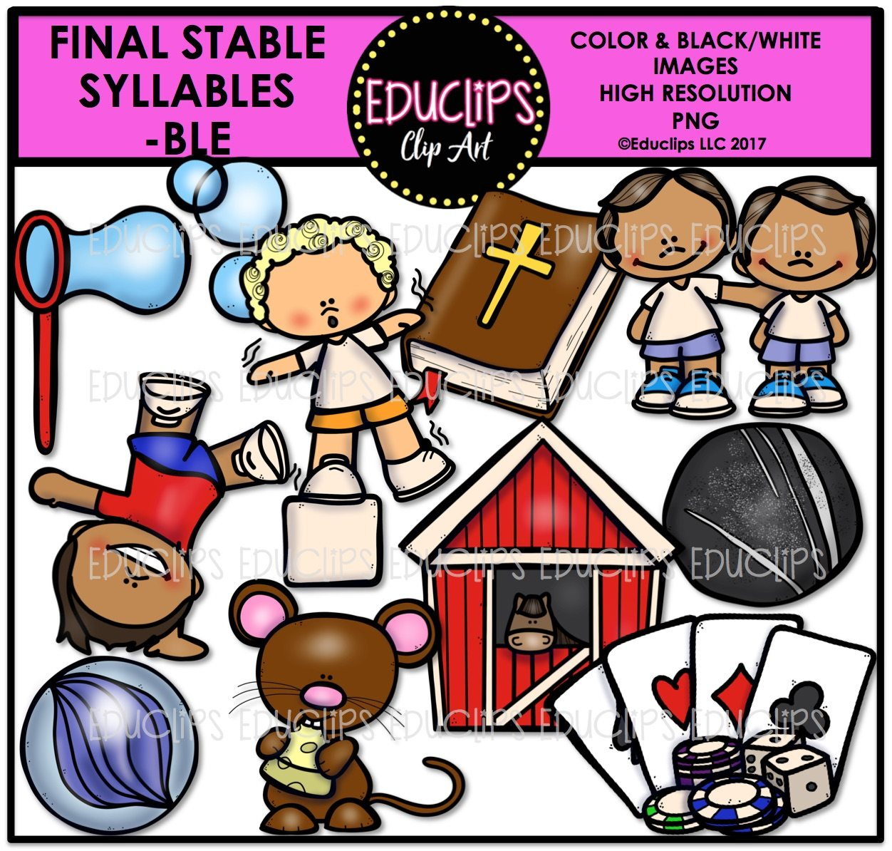 Final Stable Syllables Ble Color And B Amp W