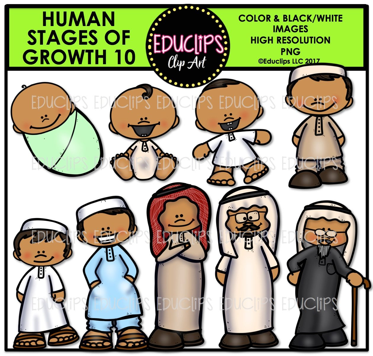 Human Stages Of Growth 10 Islamic Male Color And B Amp W