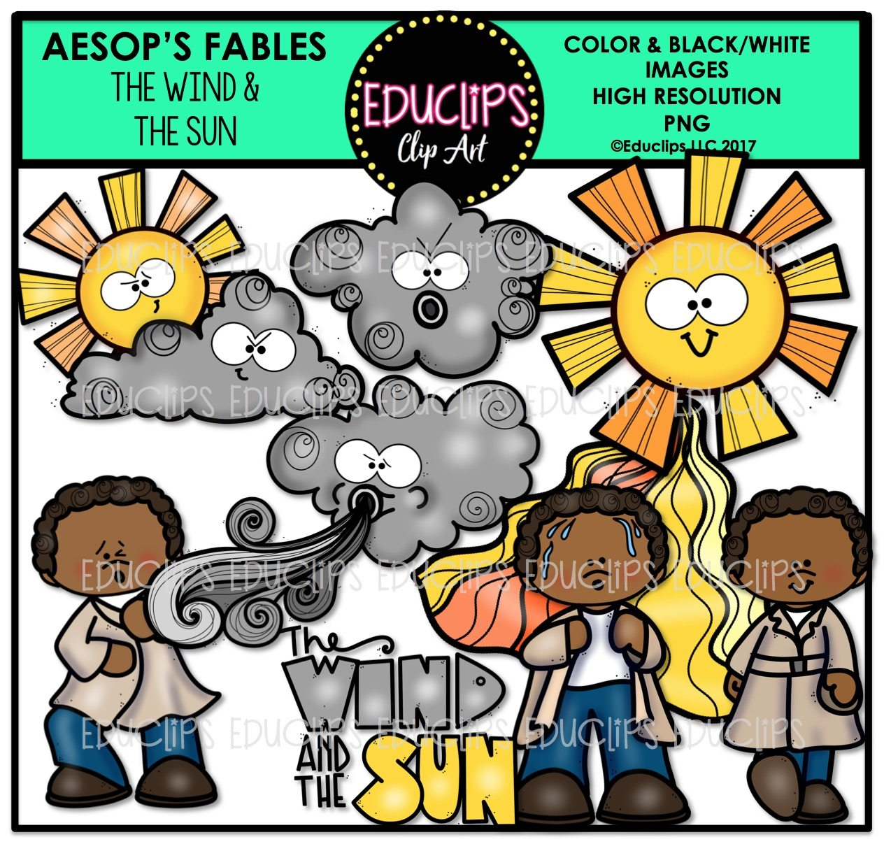 Aesop S Fables 2 Clip Art Mega Bundle Color And B Amp W