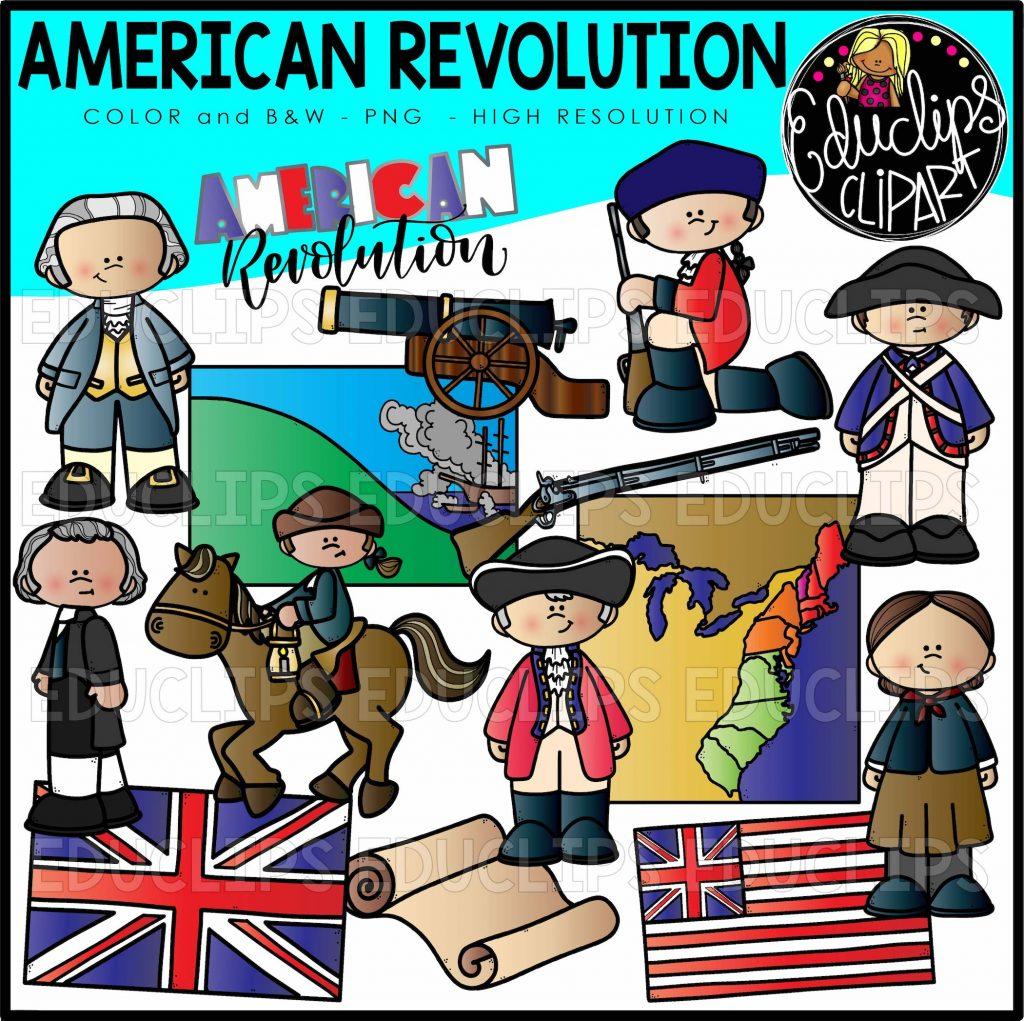 American Revolution Clip Art Set
