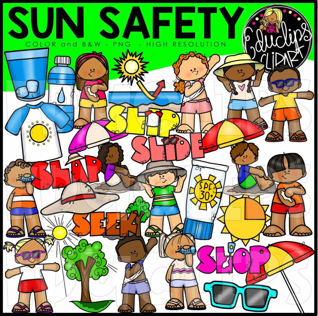 Sun Safety Clip Art Set