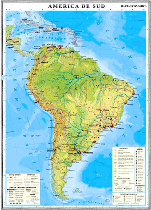 GHC13E harta america de sud economica