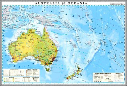 GHC19E harta australia si oceania economica