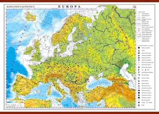 GHC1F14 europa harta fizica si politica