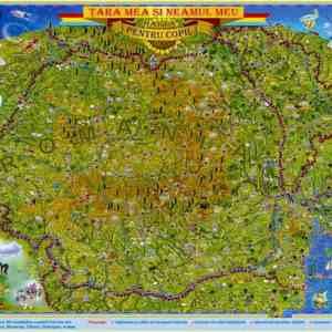 GHRCPG harta tara mea si neamul meu romania si moldova pentru copii 350024001